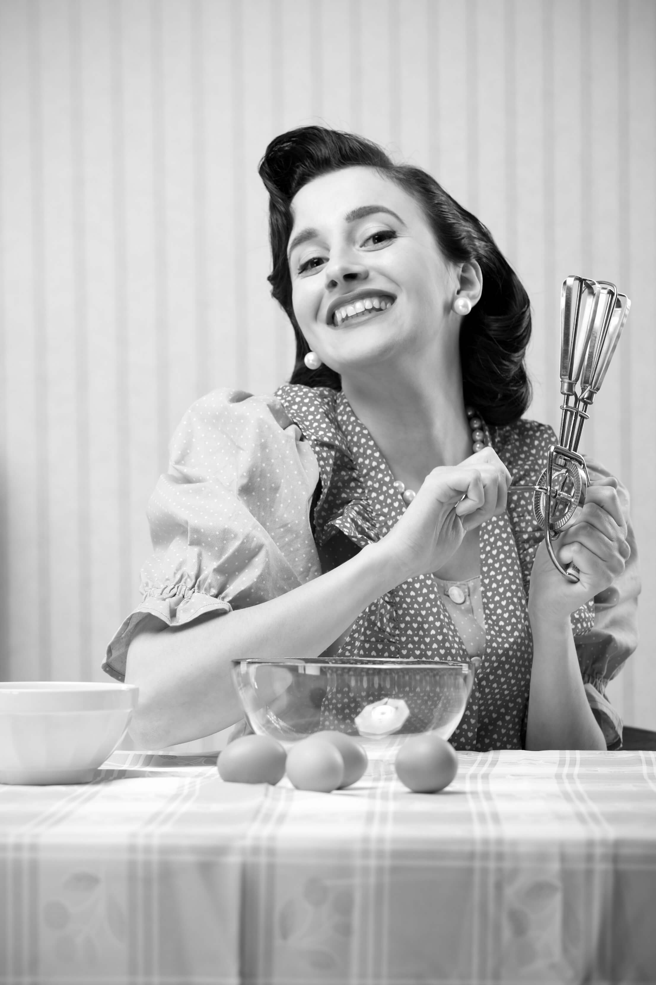 stay-at-home mum - retro housewife baking