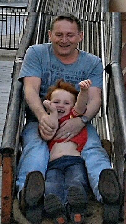 Fun with dad on the helter skelter is better than cheap toys