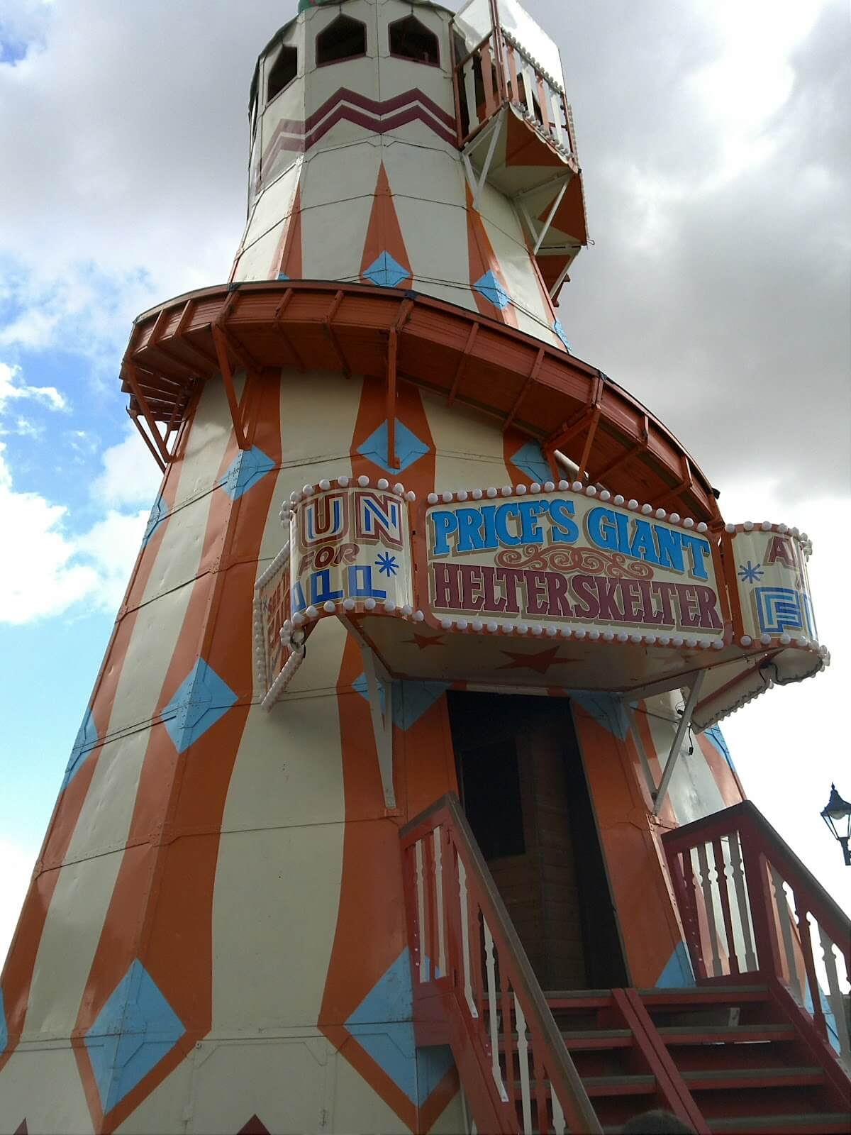 cheap toys are no substitute for fun at the fair - helter skelter at Cardiff Bay