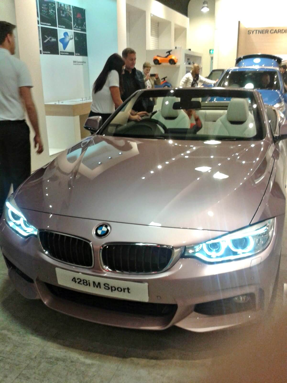 child can travel in the front of a car - BMW in a recent popup in Cardiff