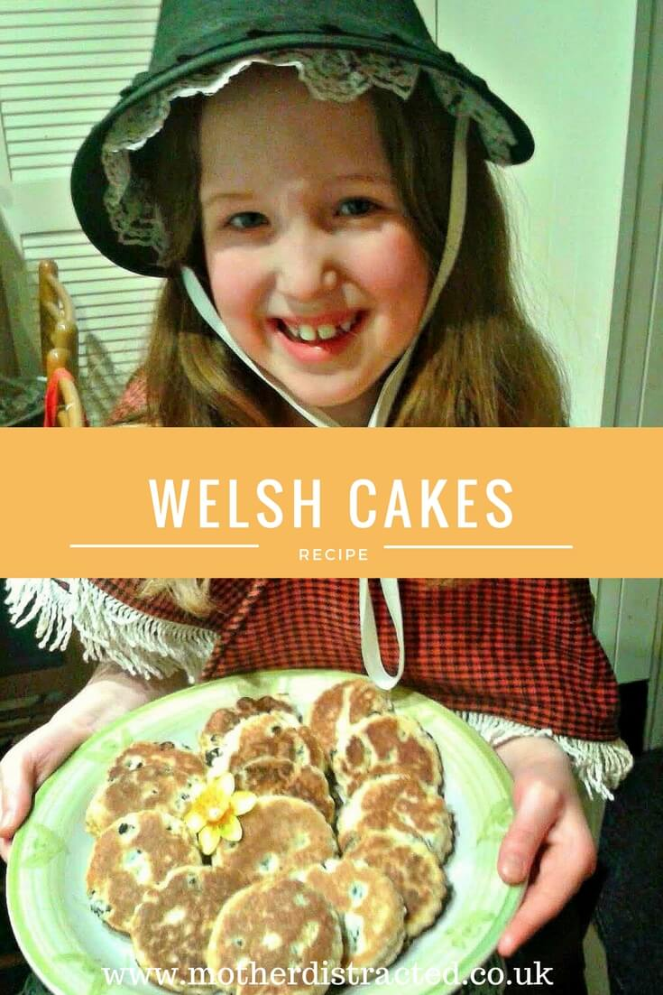 Welsh cakes - Caitlin holding a plate of freshly made Welsh cakes