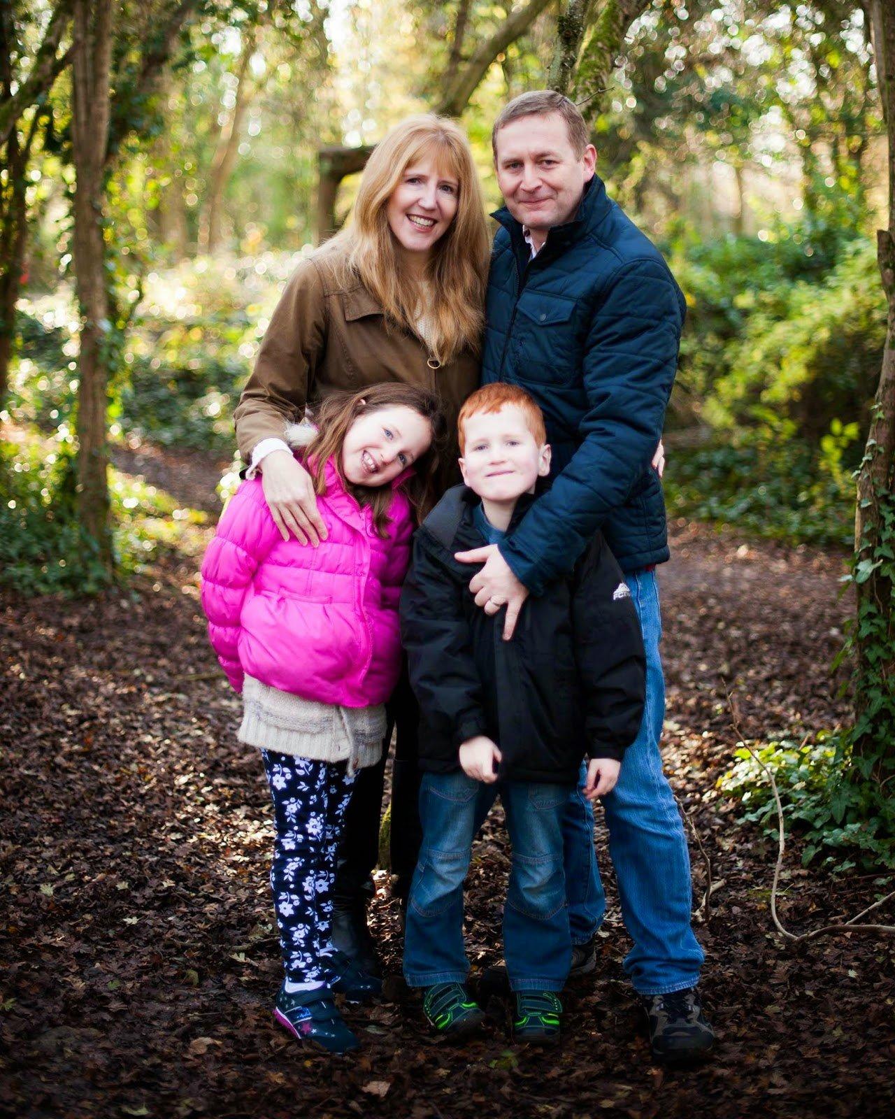 older mum Linda Hobbis, hubby Mat, Caitlin and Ieuan