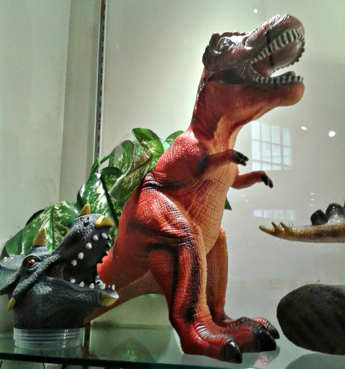 museums to visit in Cardiff - toy dinosaurs in the National Museum Cardiff