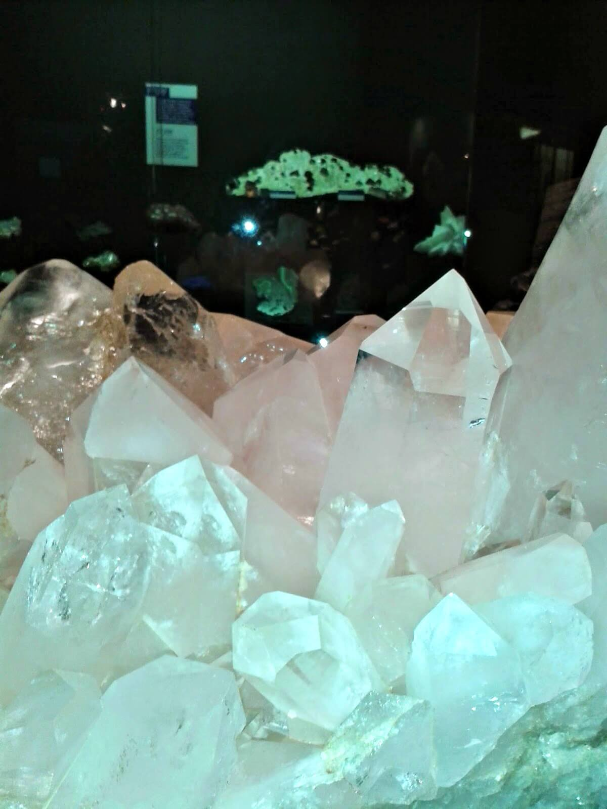 Museums to visit in Cardiff - large crystals on display at National Museum Cardiff