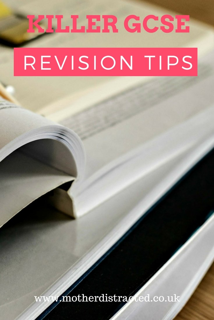 GCSE revision tips - pile of books for studying