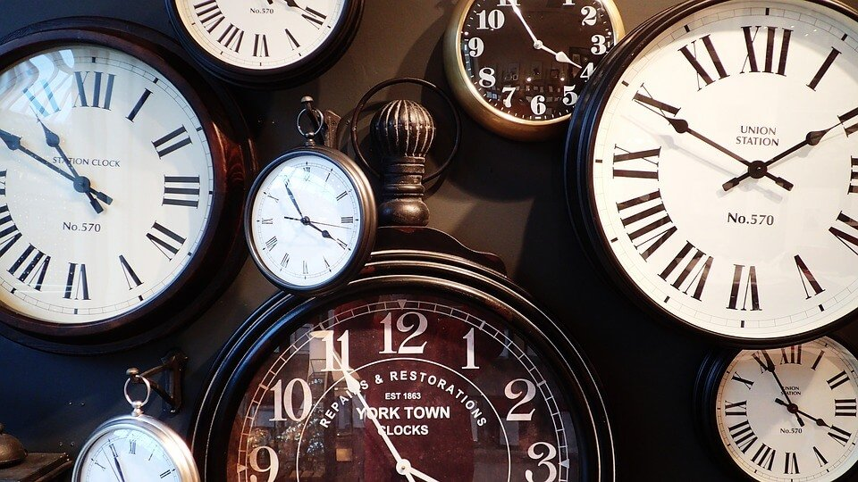 Is your job making you ill - selection of clocks and pocket watches
