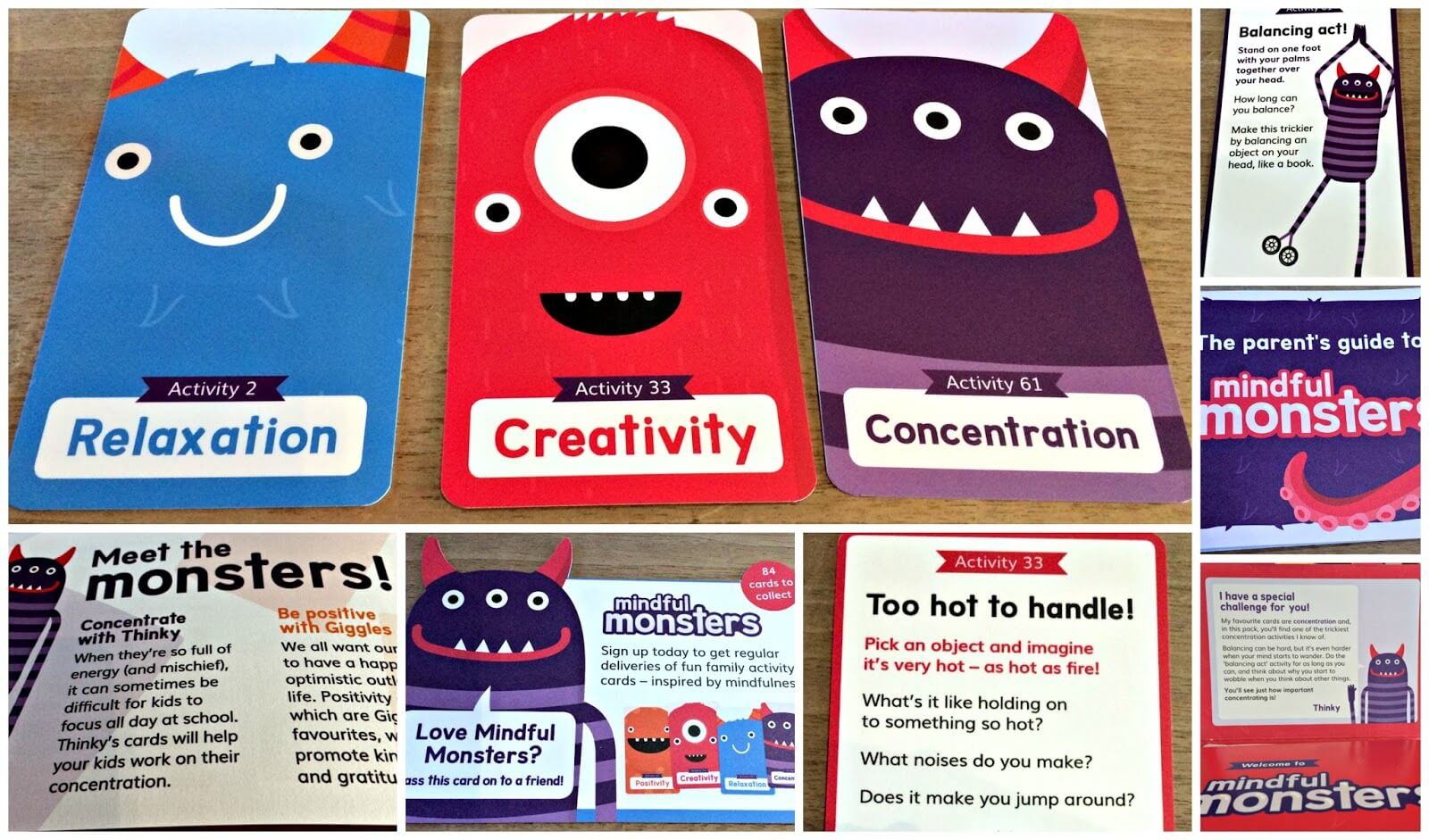 mindful monsters cards from SCOPE - mindfulness training for kids