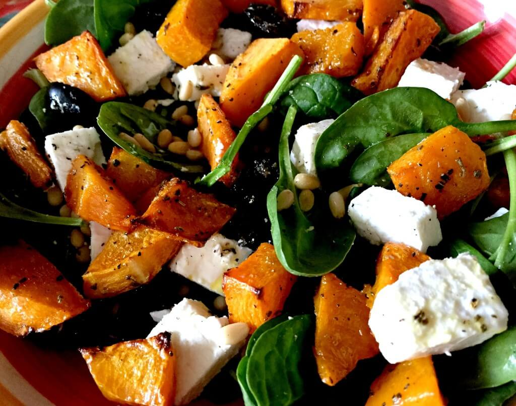 quick and easy summer salads - roast butternut squash salad