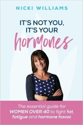 help with menopausal symptoms - Front cover of It's Not You, It's Your Hormones book by Nicki Williams