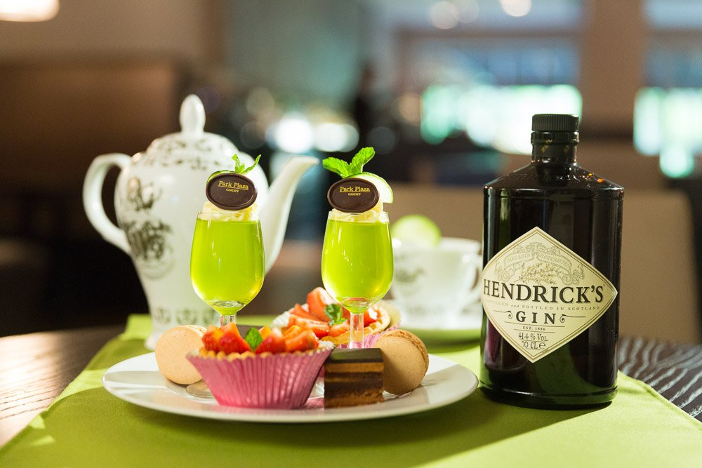 Hendrick's Gin Afternoon Tea at Park Plaza Hotel, Cardiff