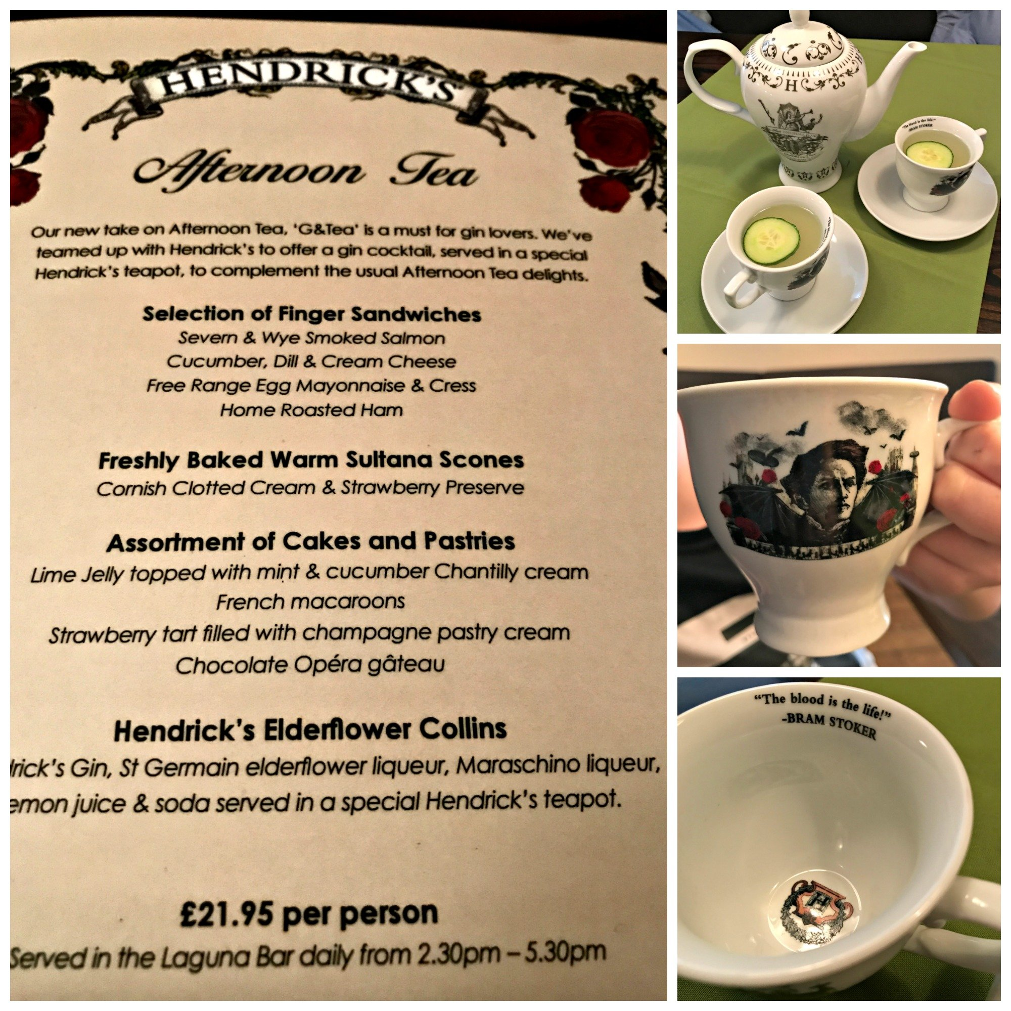 Hendrick's Gin Afternoon Tea - pot, cups and saucers