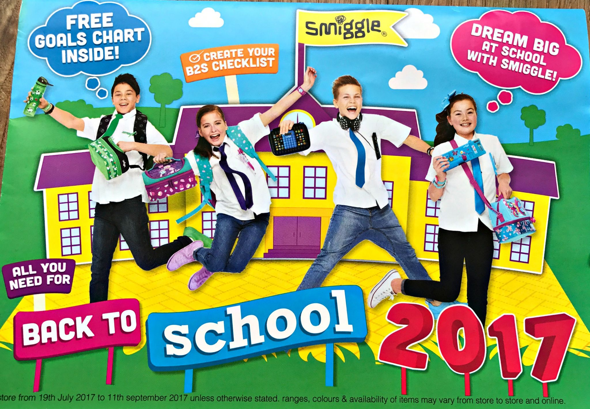 Smiggle back to school leaflet & competition details
