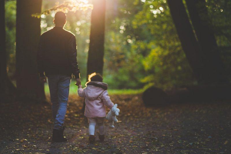 Man, Child, Woods, Autumn, motherdistracted.co.uk