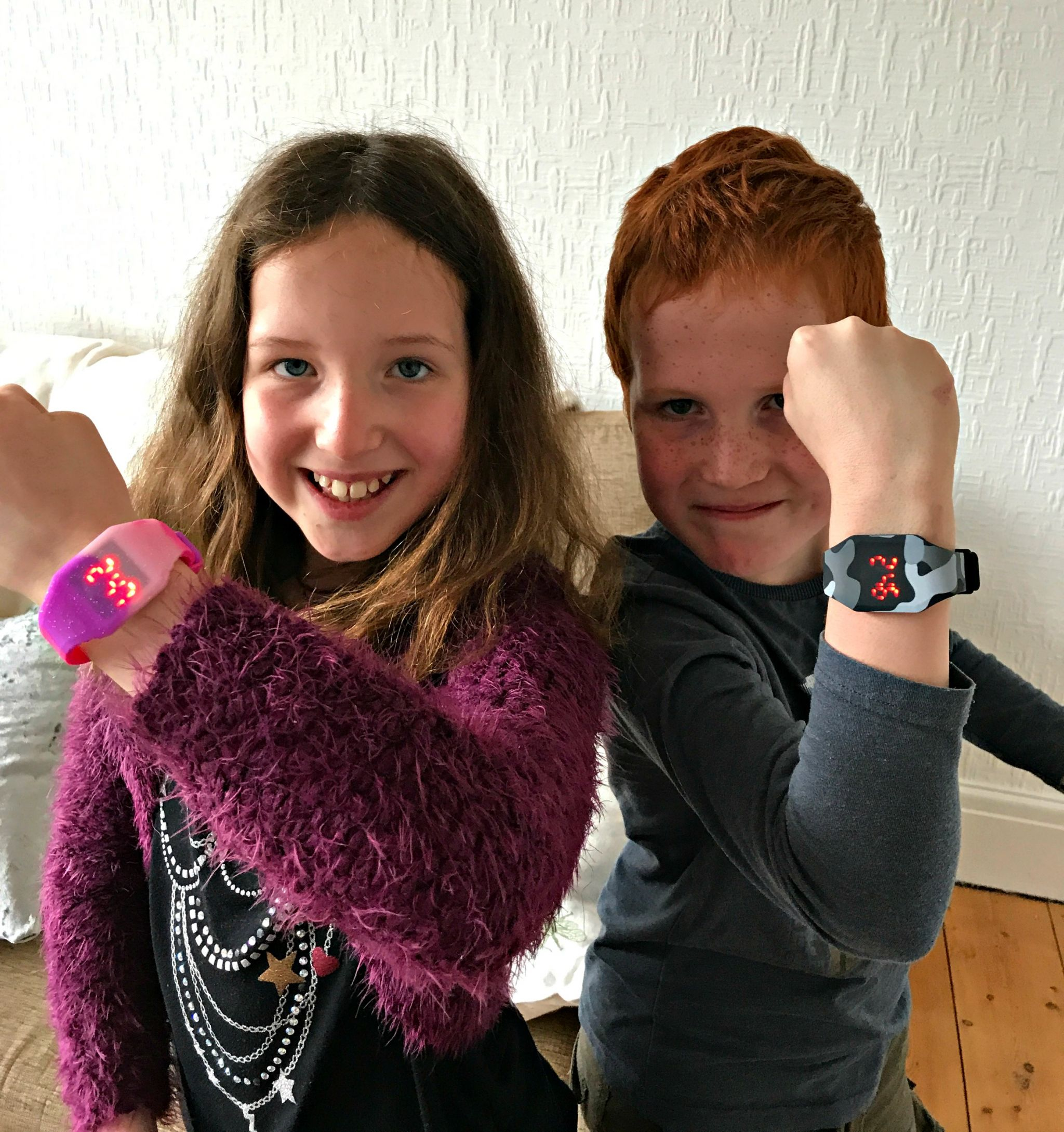 Caiitlin & Ieuan with Smiggle watches from back to school 2017 range
