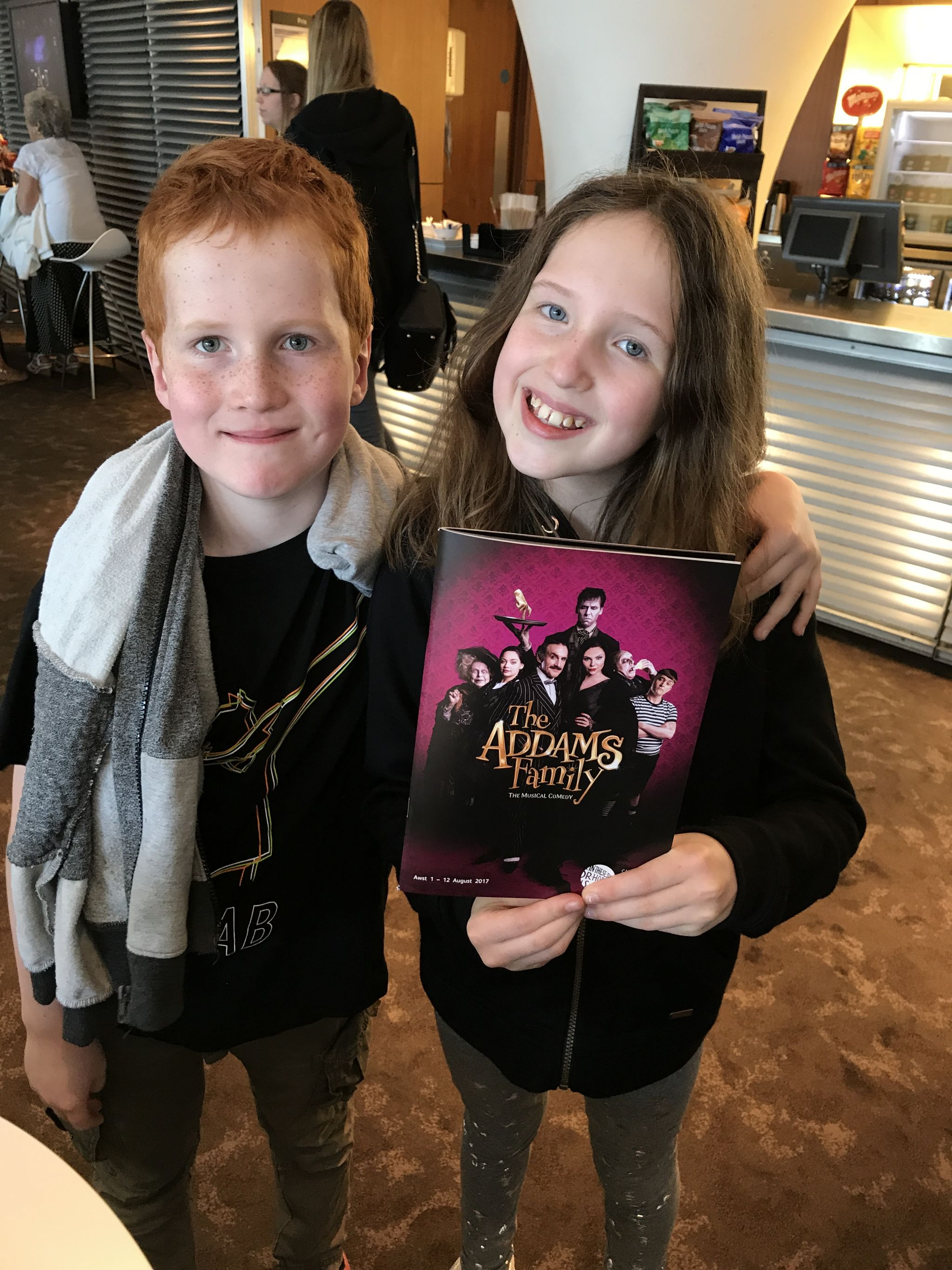 Caitlin & Ieuan at The Addams Family, Wales Millennium Centre