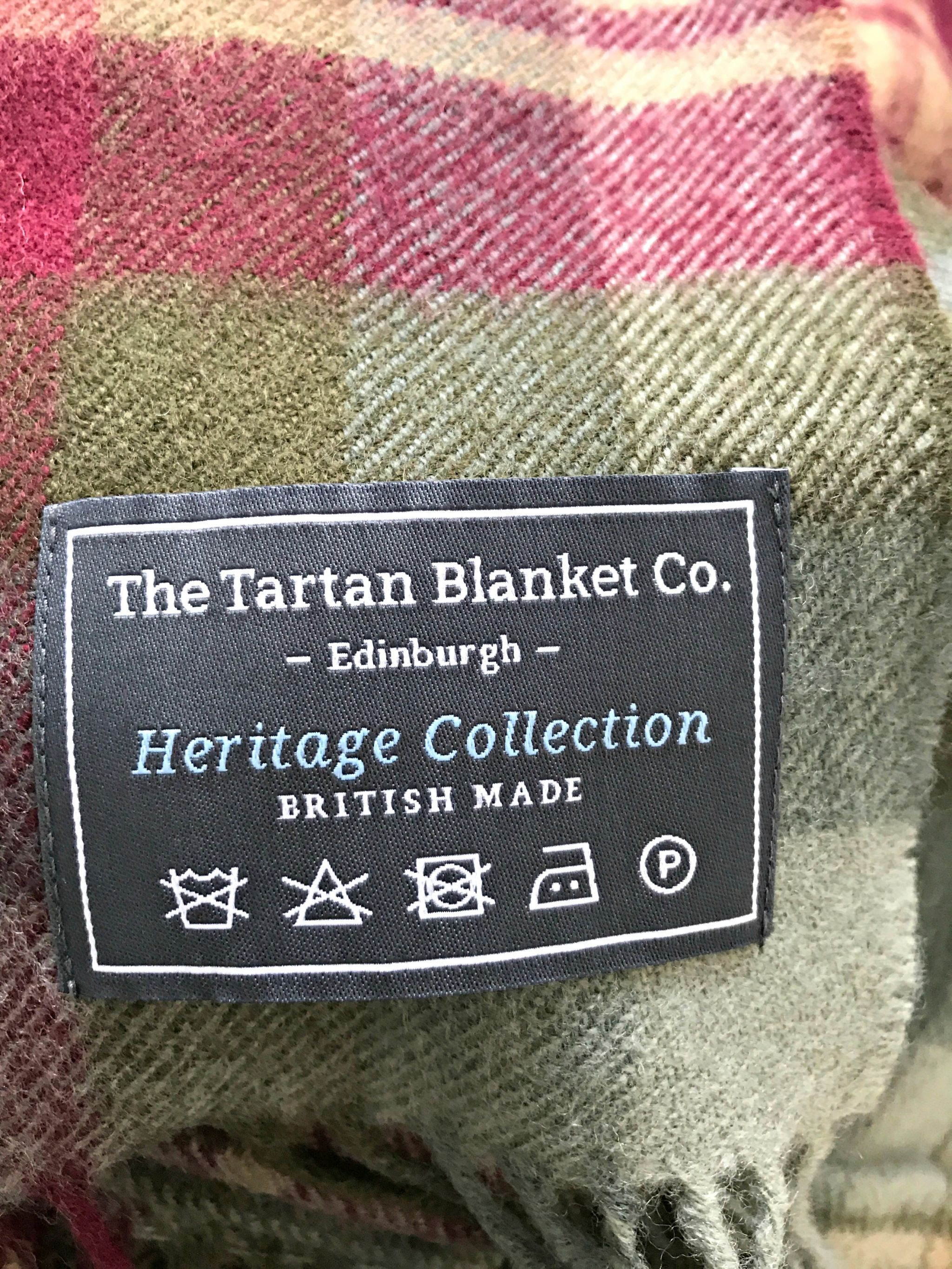The Tartan Blanket Co. Auld Scotland Blanket Care Label