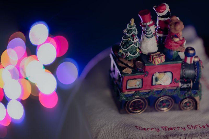 Christmas toy train decoration