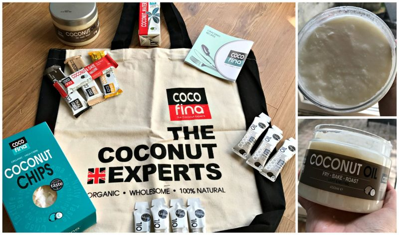 Selection of Cocofina Coconut products & coconut oil