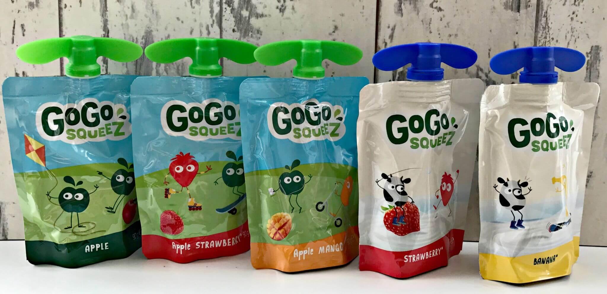 best fruit snacks - GoGo SqueeZ pouches