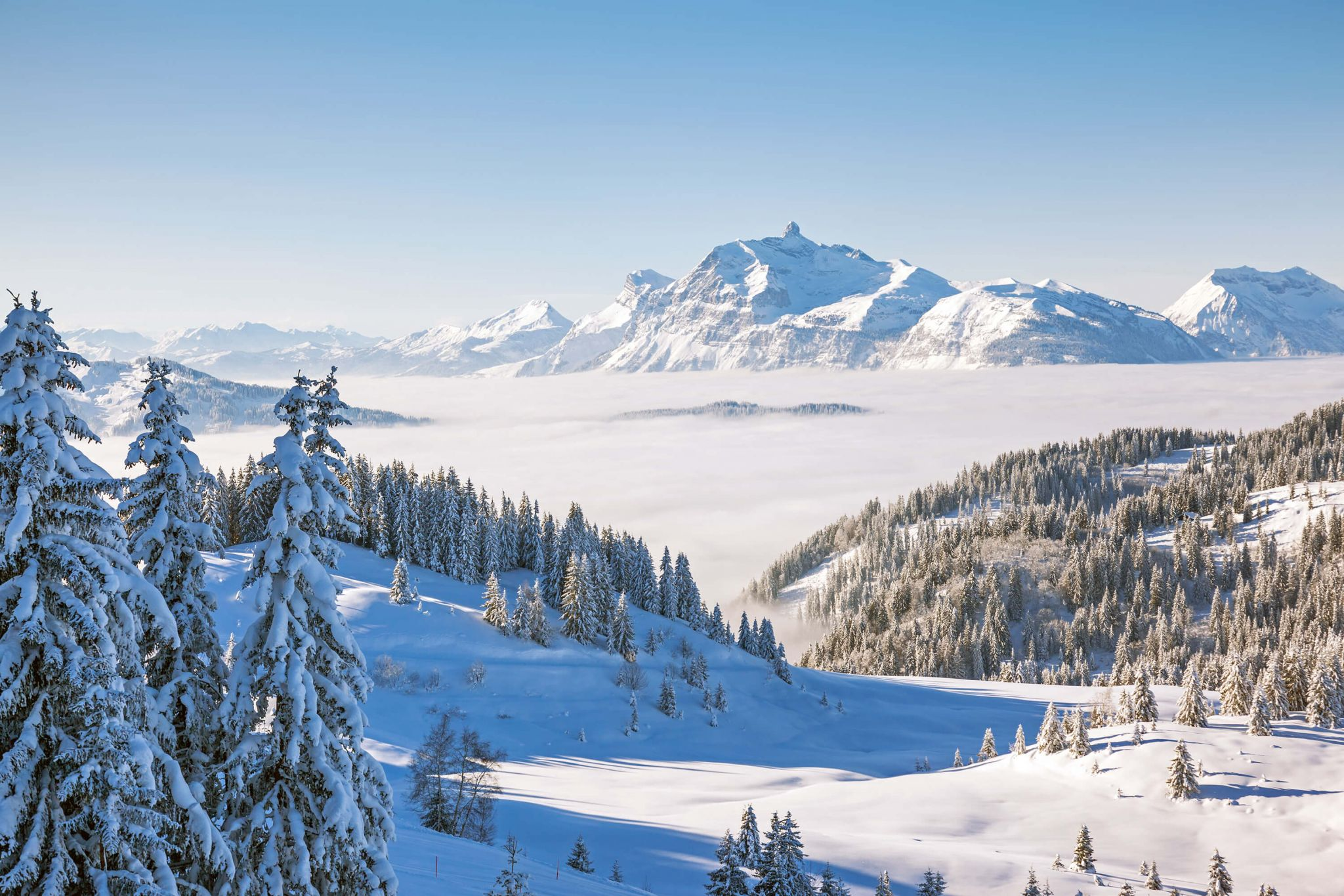 ski holiday with kids - Aravis Mountain Range