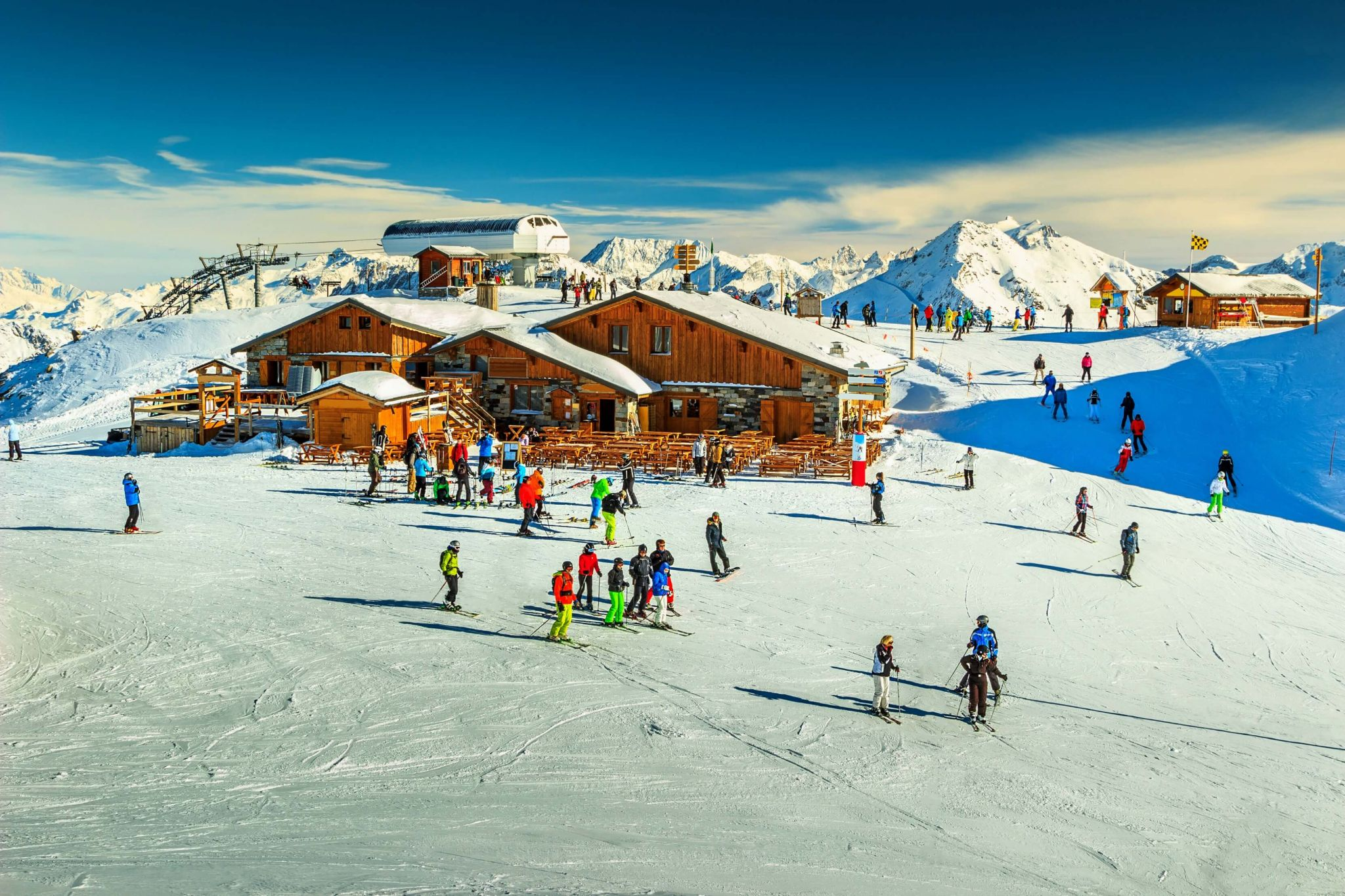 ski holiday with kids - Les Menuires