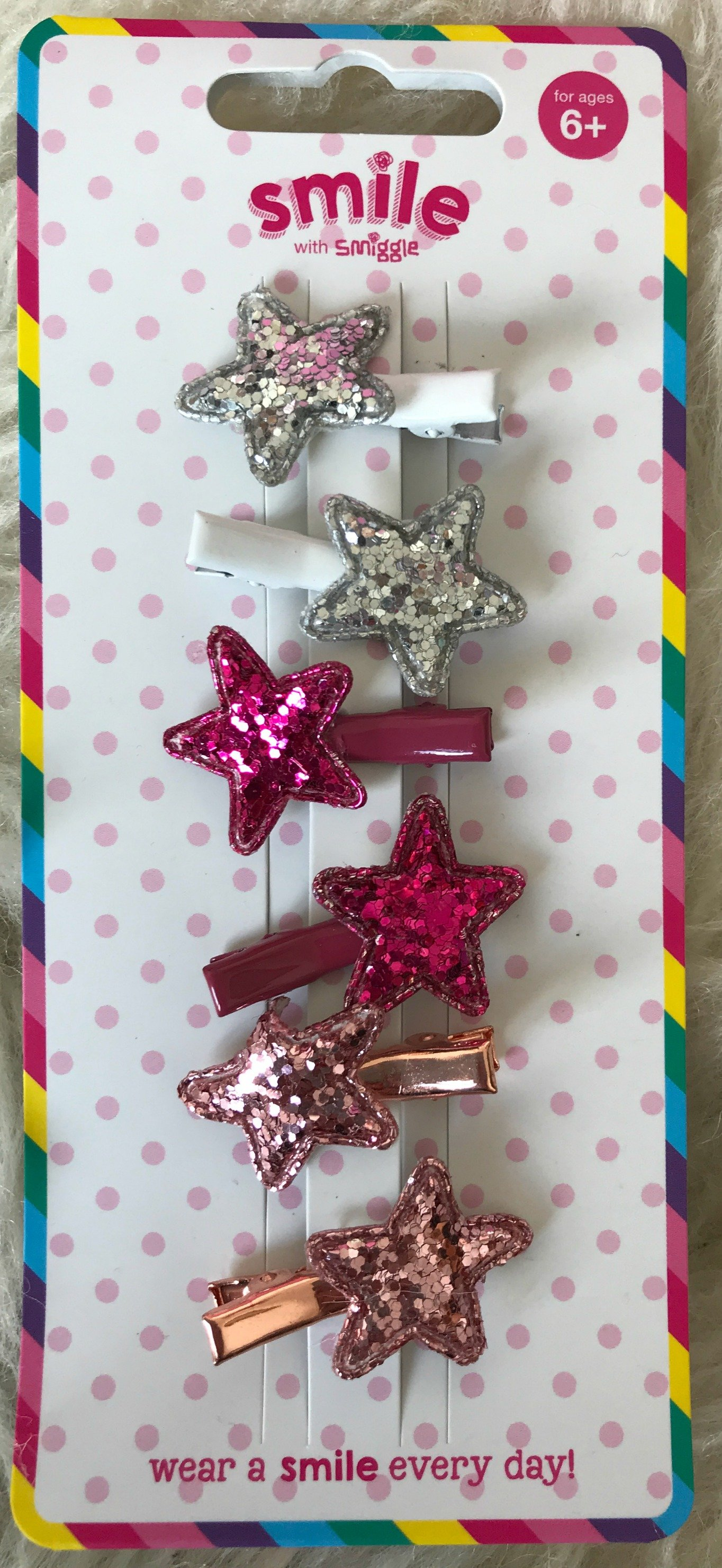 Smiggle Smile Shimmery Hair Clips