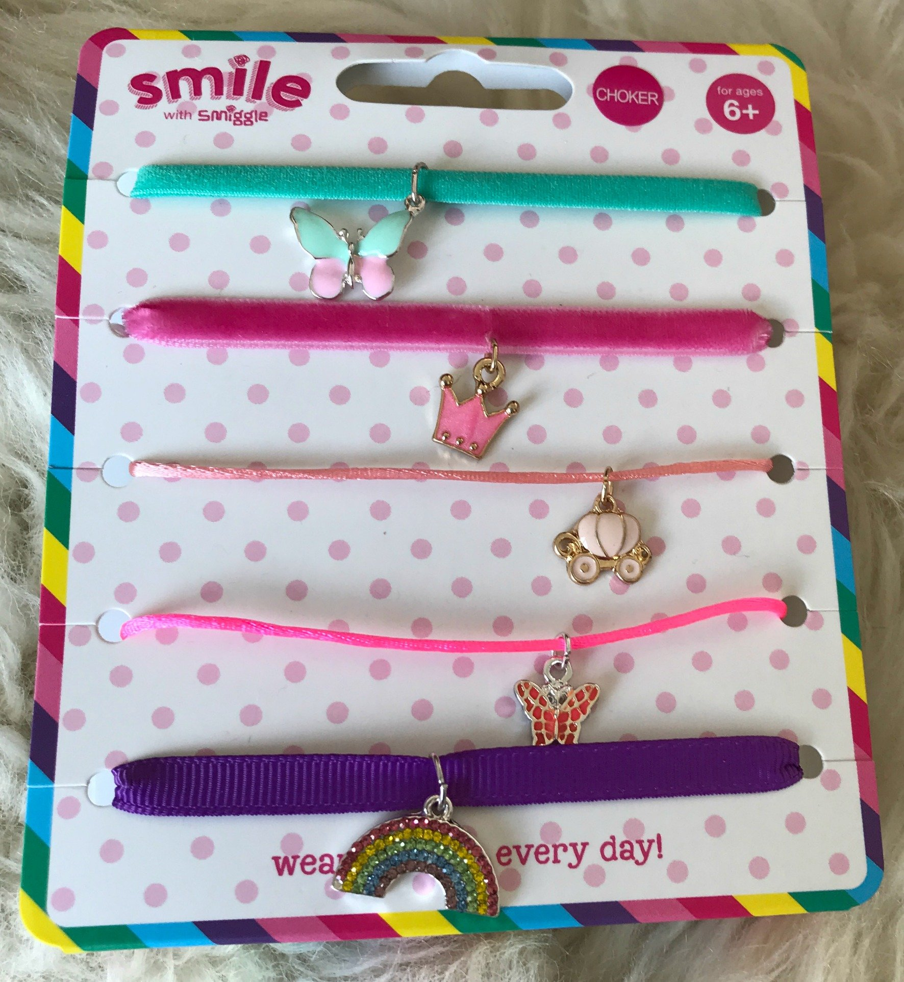 Smiggle Smile Charmed Choker Pack x 5