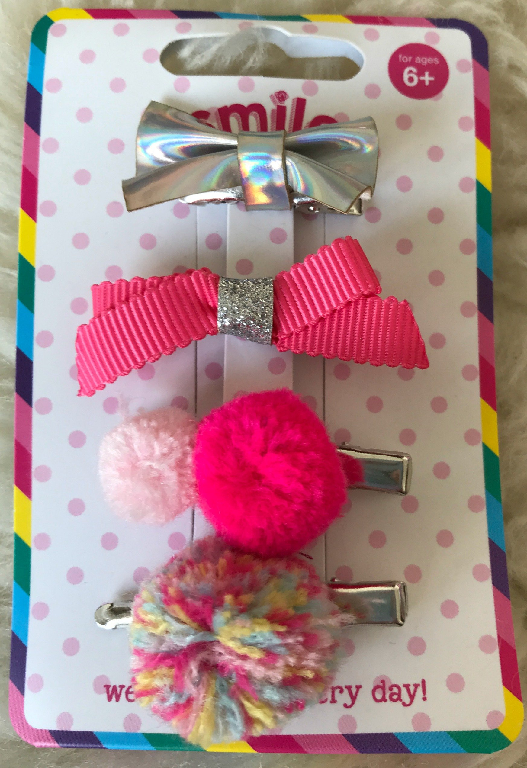 Smile Bits n Bobs Hair Clips Pack x 4
