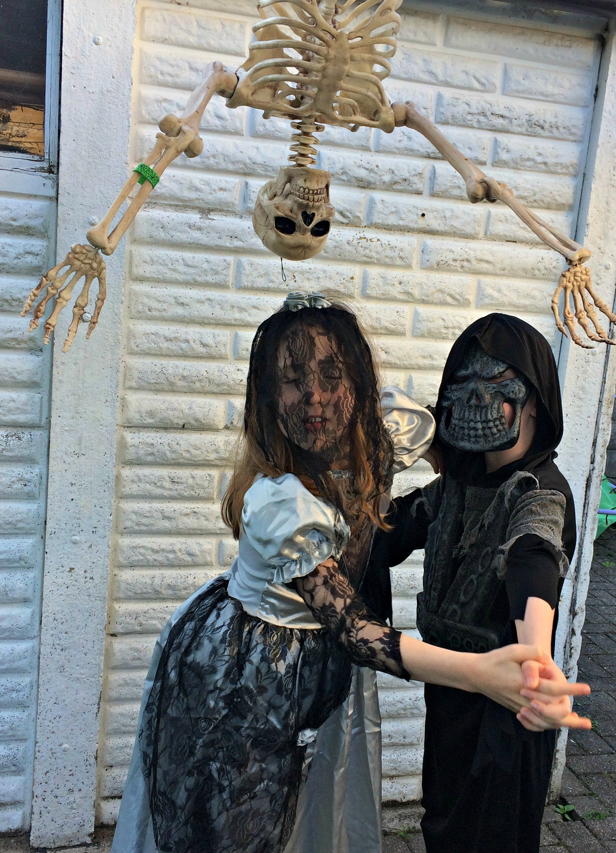 Caitlin & Ieuan in their Halloween costumes 2016