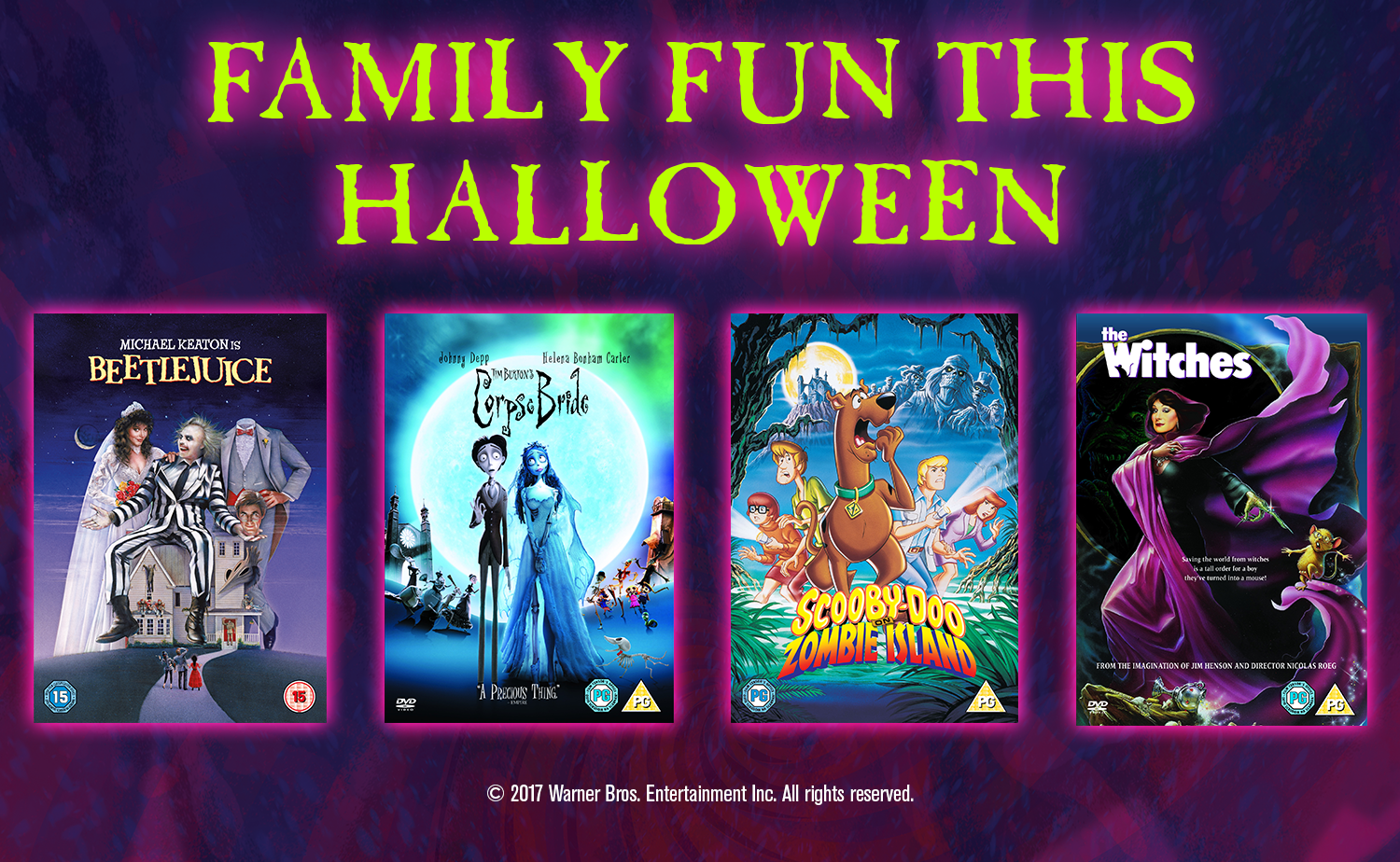 Halloween family movies - Warner Bros Halloween DVDs