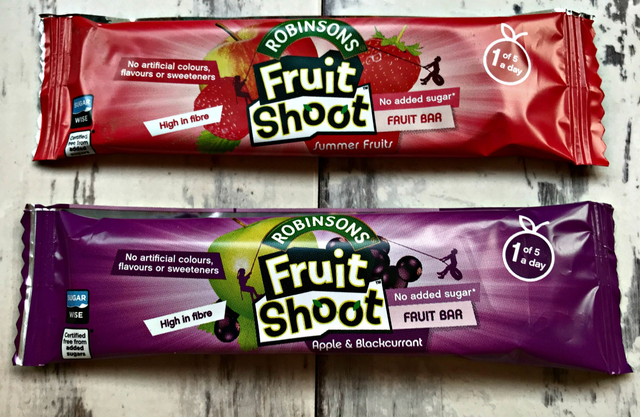 childrens snack bars - Robinsons Fruit Shoot Bars, Summer Fruits & Apple & Blackberry