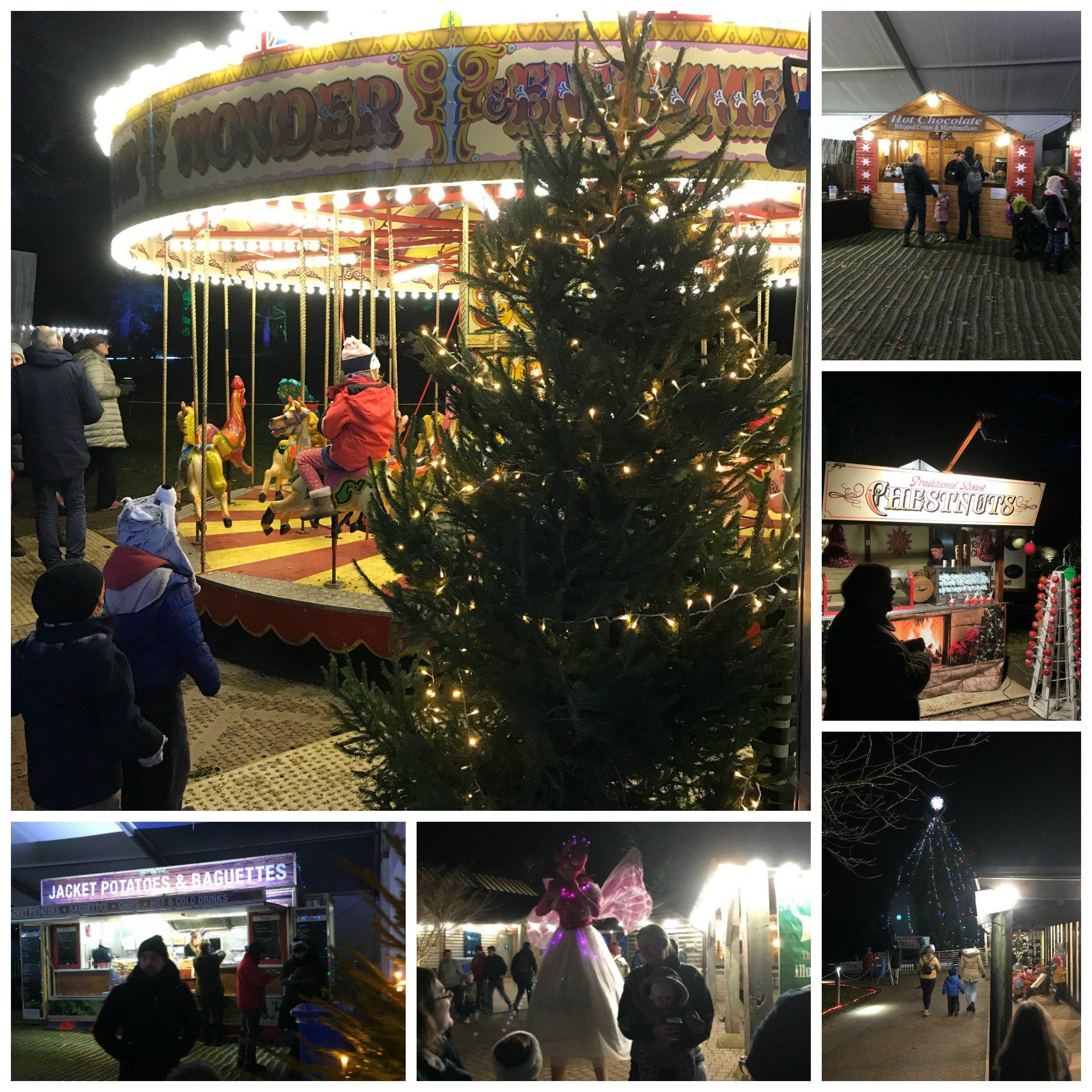The Christmas Village at the Westonbirt Arboretum Enchanted Christmas Trail 2017