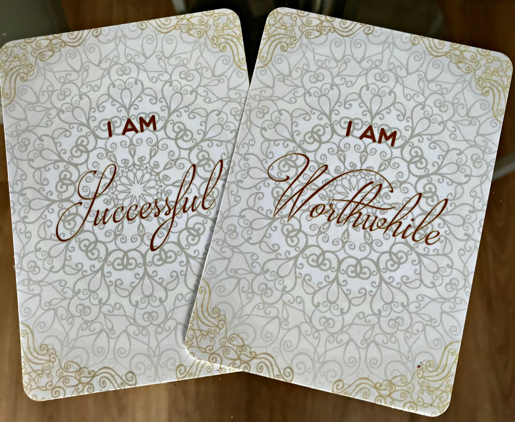 affirmation cards - 2 example cards