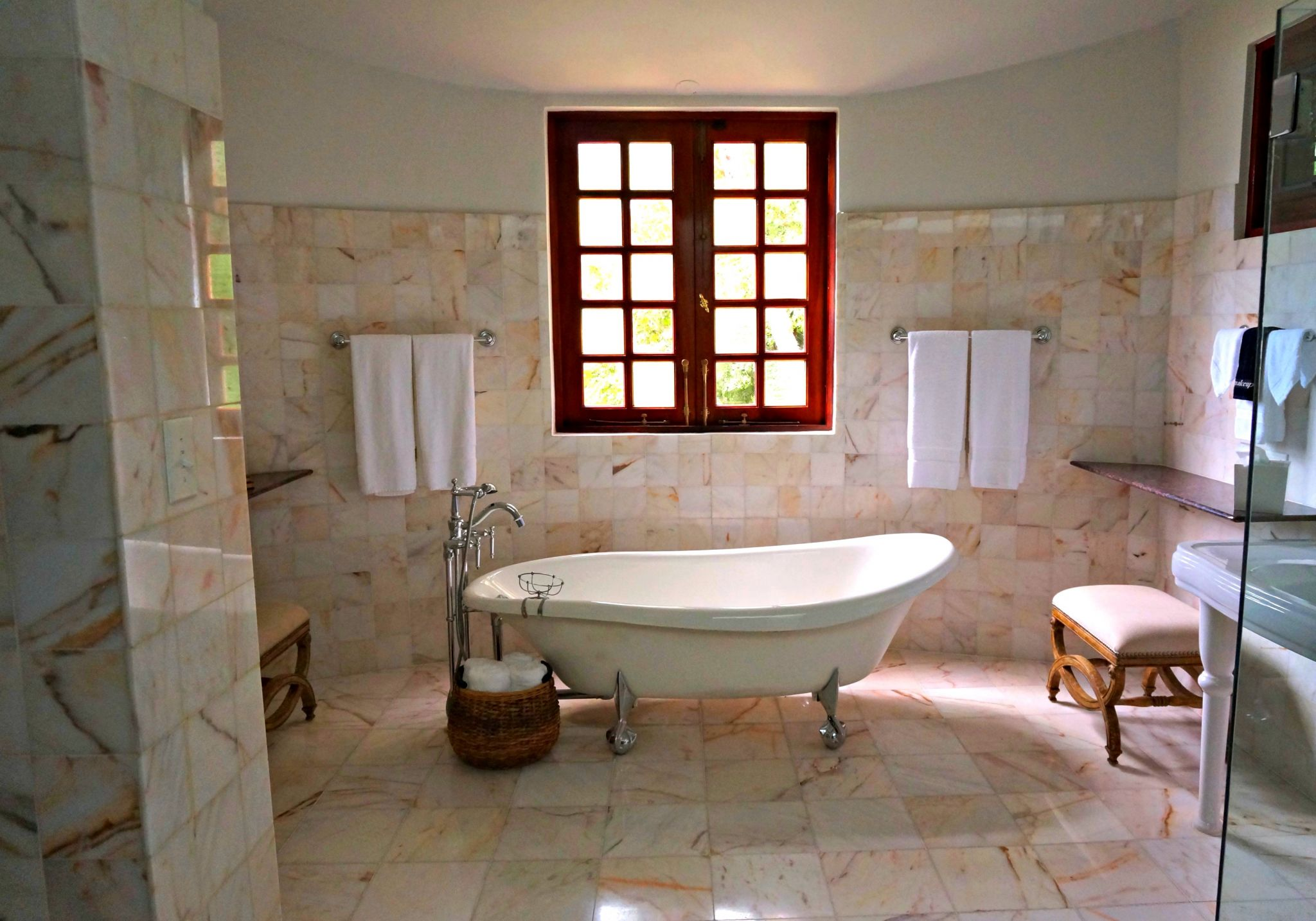 DIY projects - bathroom with stand alone bath