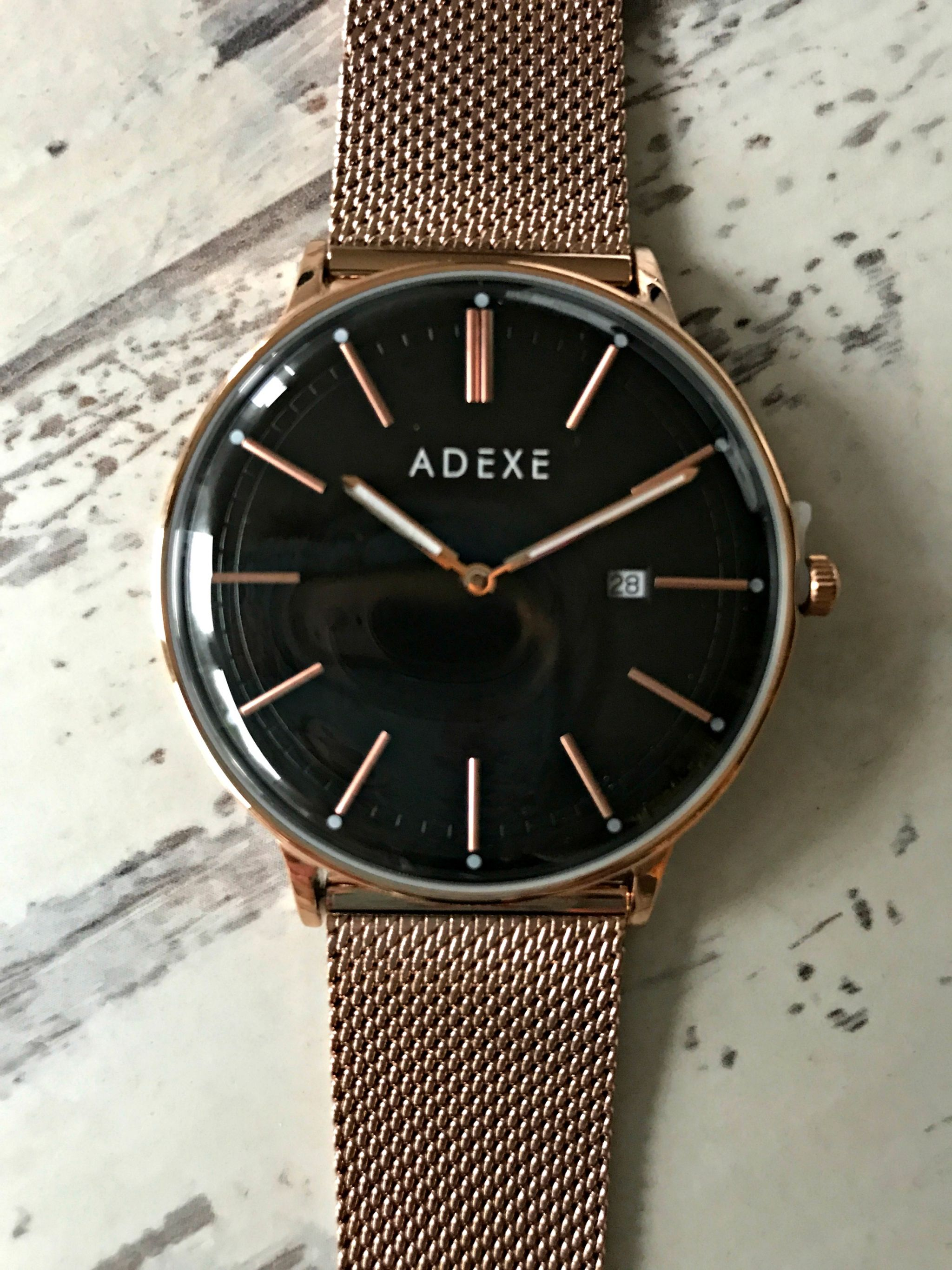 Meek Grande Rosegold watch from Adexe London