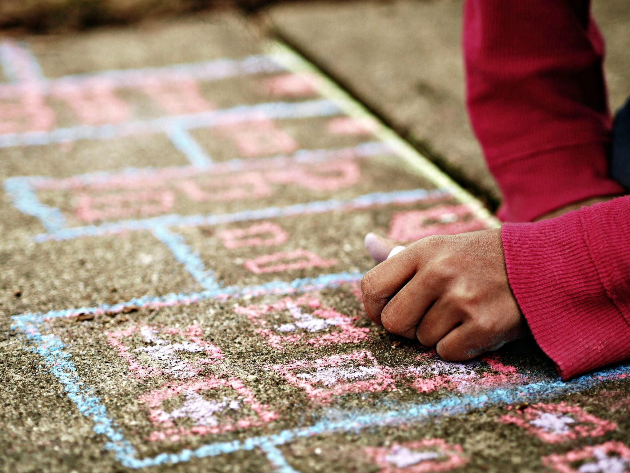 Half term fun could be something simple like chalking on your driveway