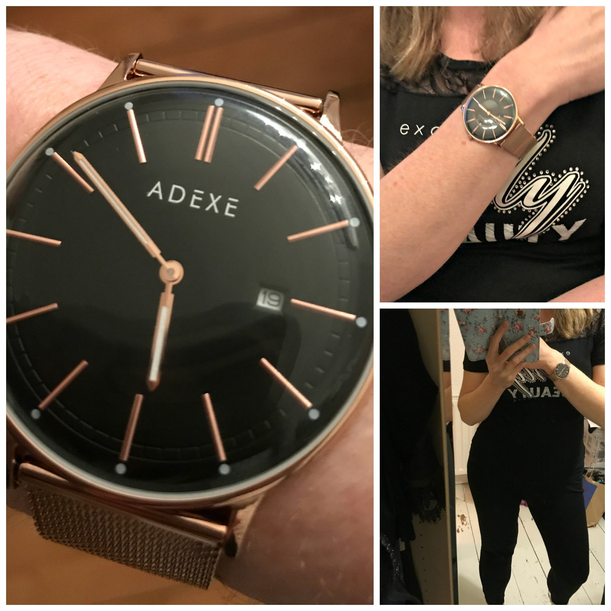 Adexe London Meek Grande Rosegold watch