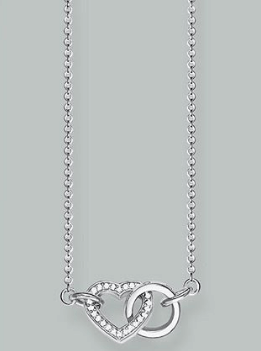Mothers Day jewellery - Thomas Sabo Together Forever Heart Link Necklace