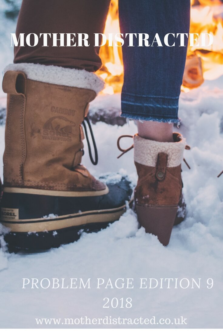 problem page edition 9 - couple's boots in the snow