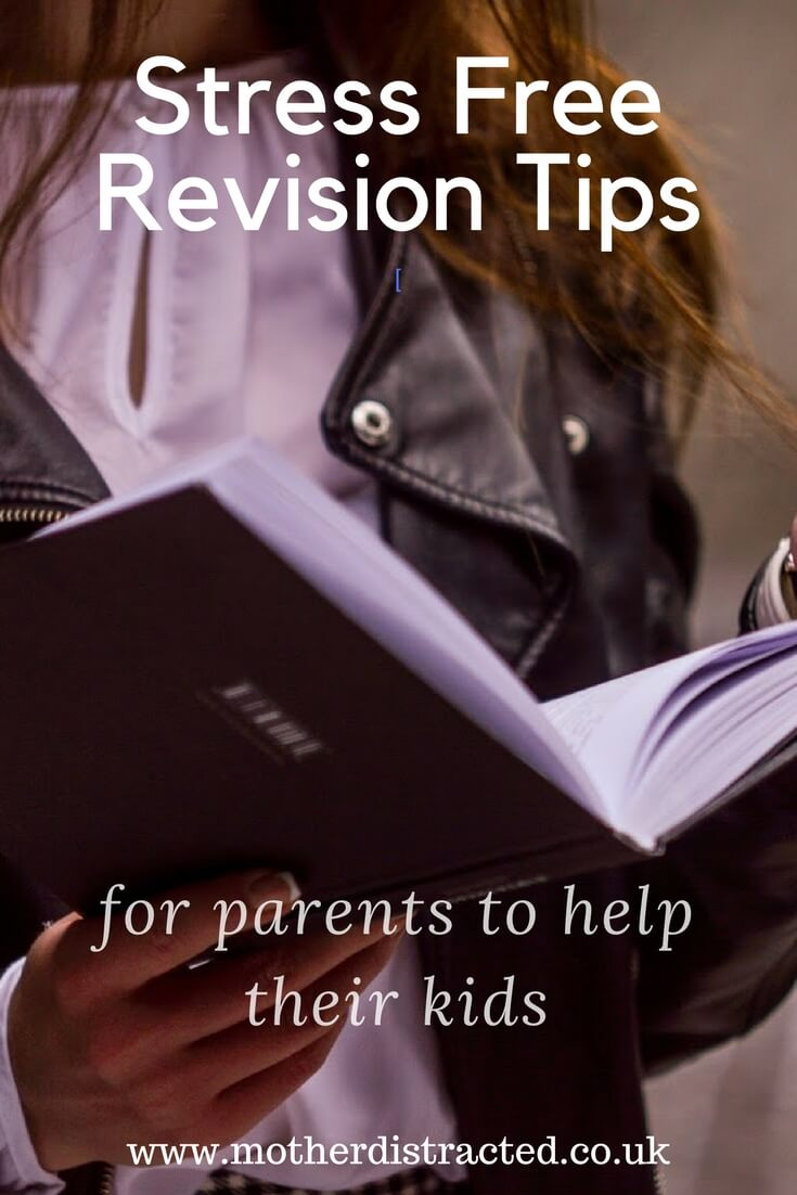 girl revising from a book - stress free revision tips