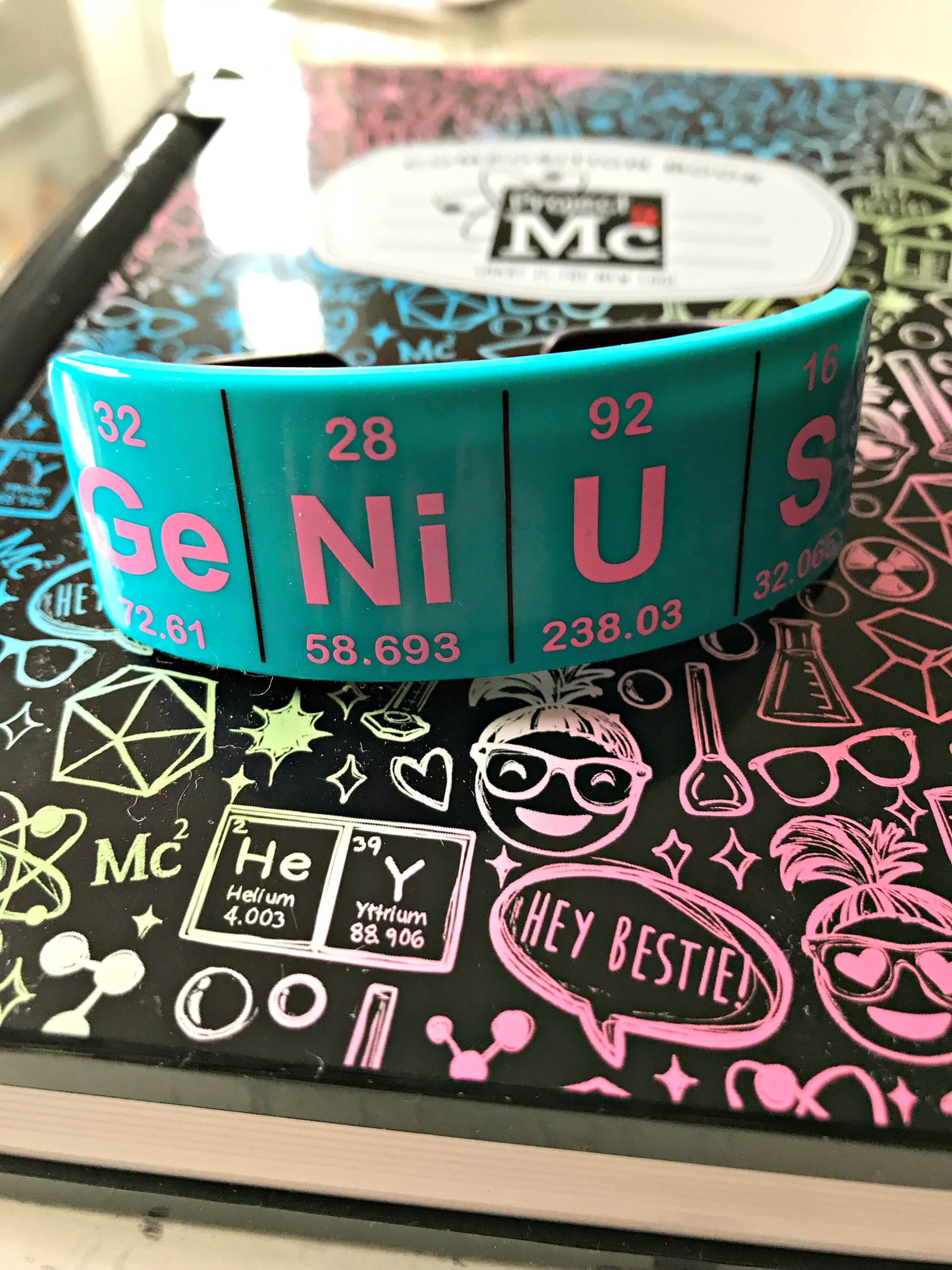 The Genius bracelet which unlocks the Project Mc2 A.D.I.S.N. Electronic Journal