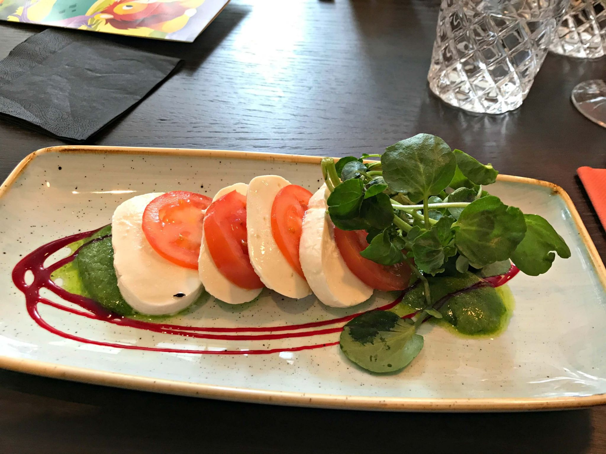 Oddsocks Bar & Kitchen - marinated tomato & mozzarella salad