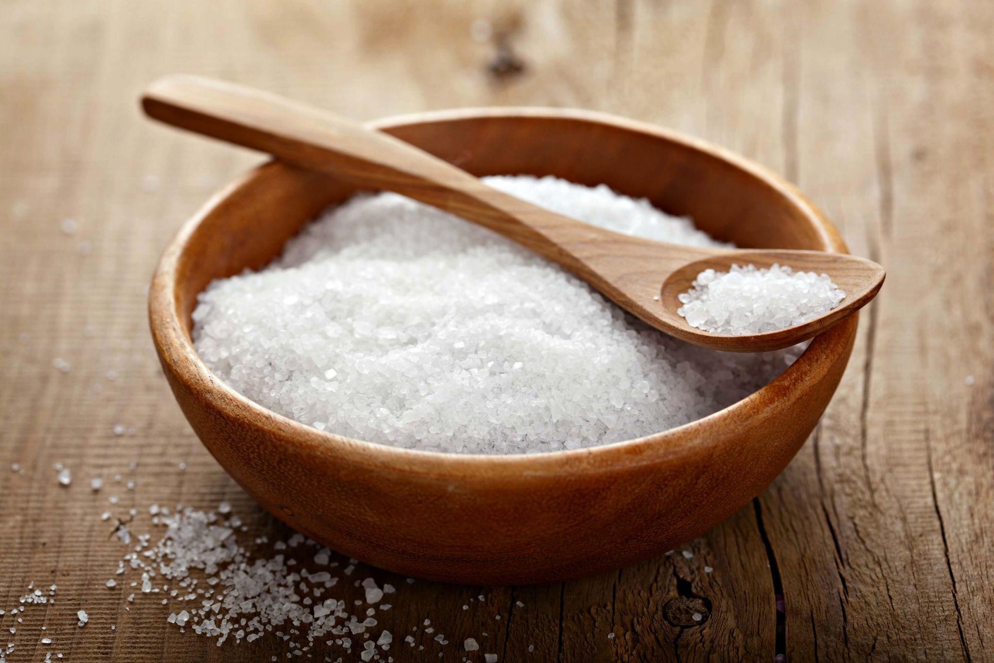 keep your gums healthy - sea salt in a bowl