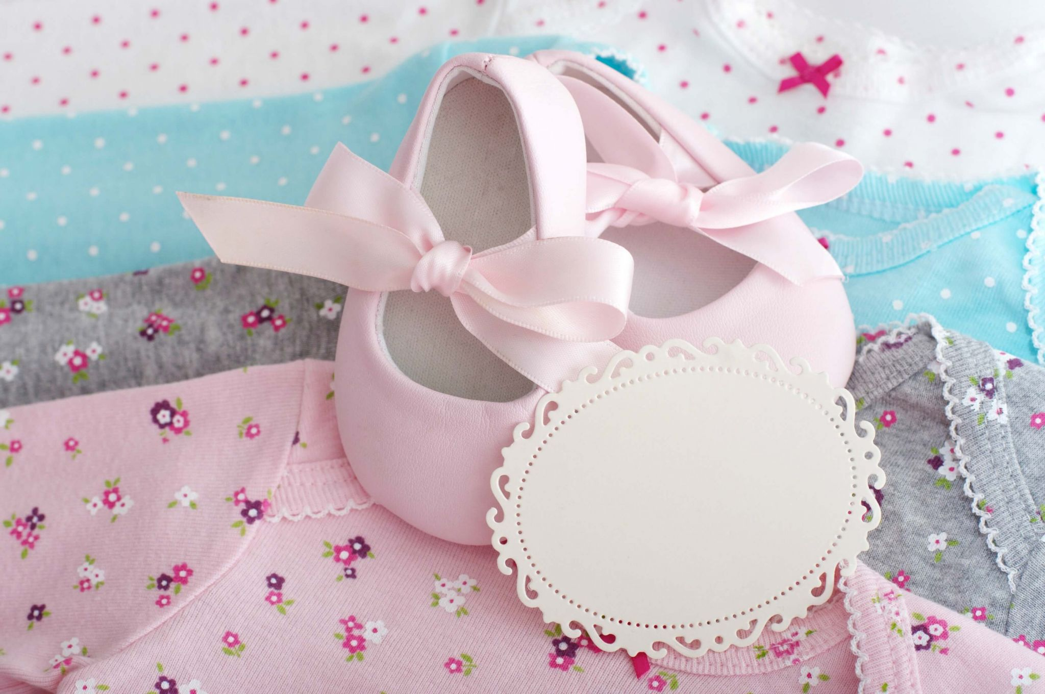 catering for your baby's Christening - pink baby booties