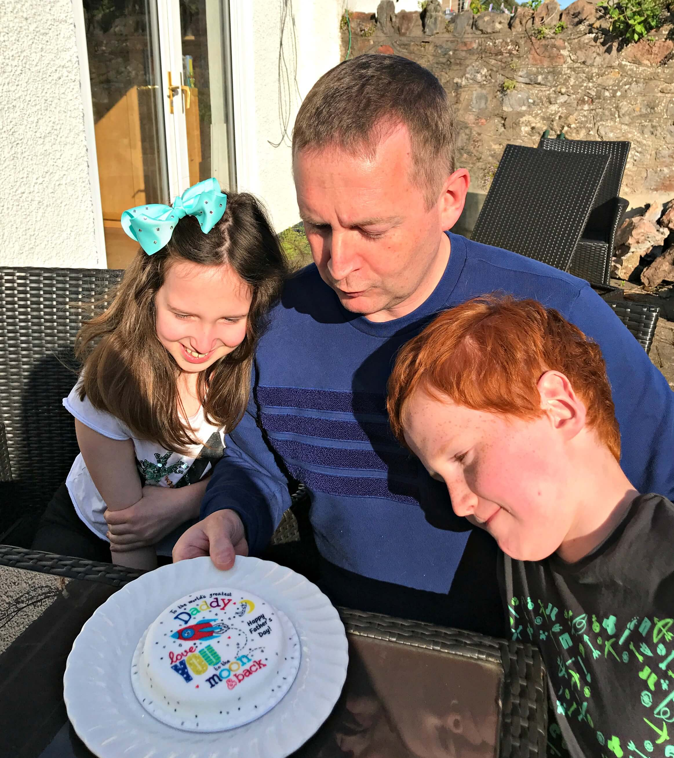 Bakerdays Cakes - Mat, Caitlin and Ieuan with the Father's Day cake