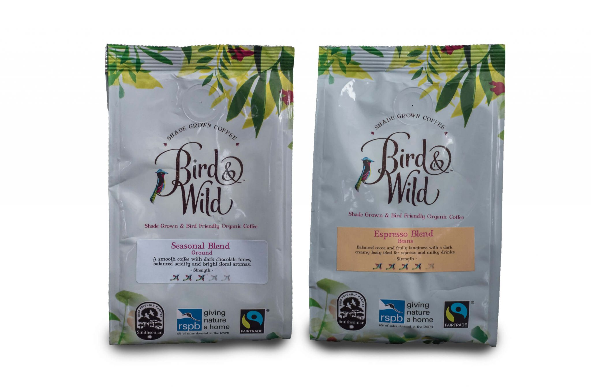 speciality coffees - Bird & Wild Coffee Range