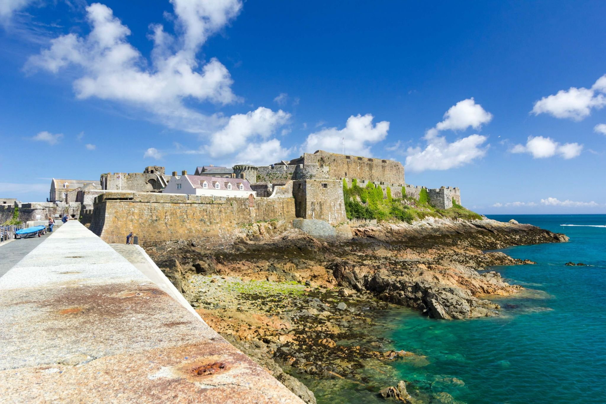 Guernsey by ferry - Castle Cornet