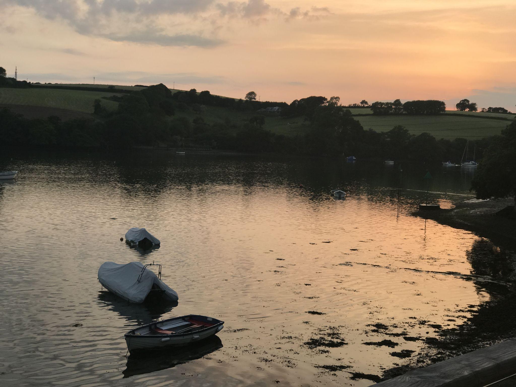 Kingsbridge Estuary at sunset