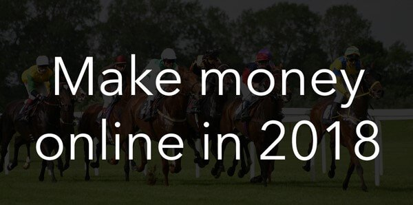 "matched betting - graphic saying ""make money online in 2018"""