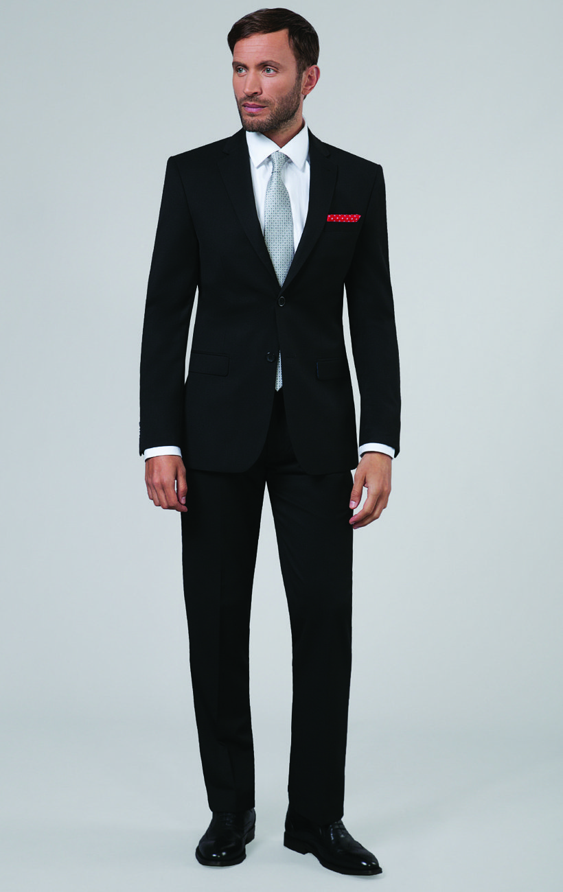 Win a suit from Dobell Menswear - black suit